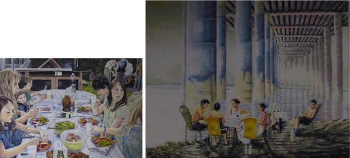 Der Hase beneidet das Lamm nicht 50/70 cm Öl auf Leinwand 2010 China verliert seine Kultur NZZ 80/100 cm Öl auf Leinwand 2011
